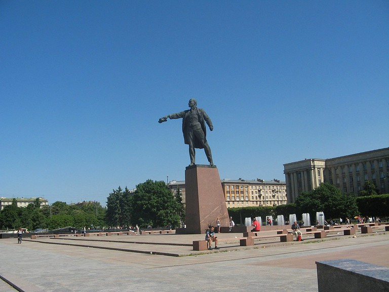 Statue of Lenin on Moskovsky Prospekt