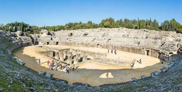 The Roman amphitheatre of Italica