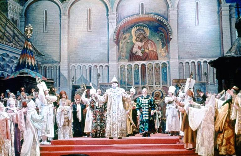 Production of Boris Godunov at the Bolshoi Theatre