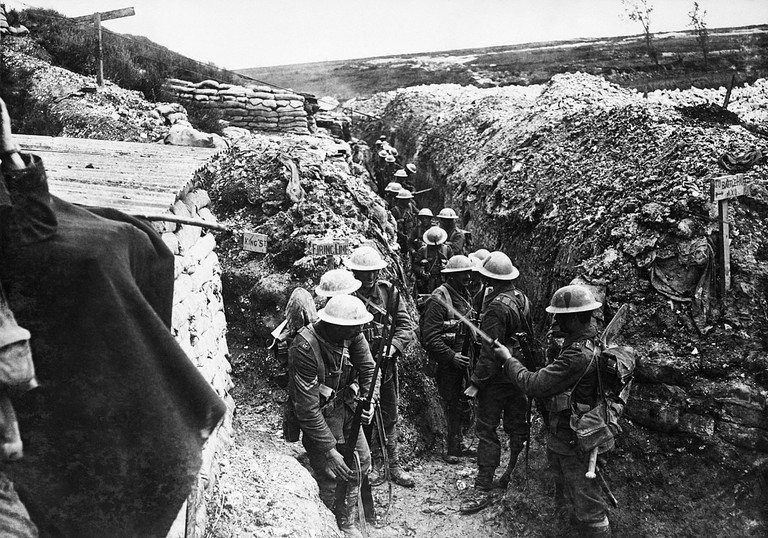 Lancashire Fusiliers trench at Beaumont Hamel, 1916