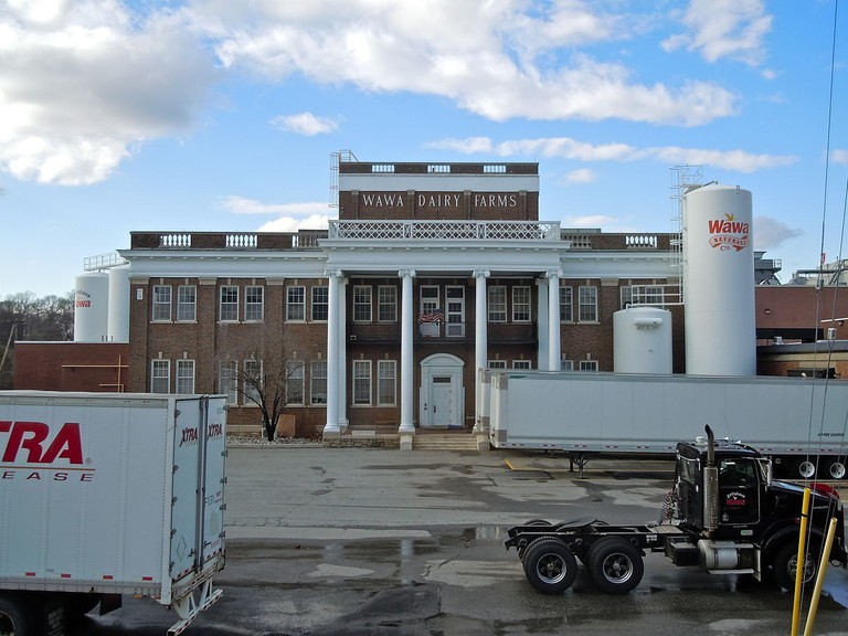 The original dairy building in Wawa, Pennsylvania