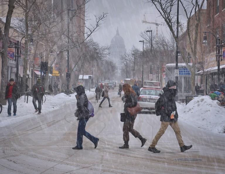 Snow on State Street | © Richard Hurd/flickr