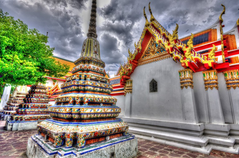 Wat Pho is already filled with artistic elements