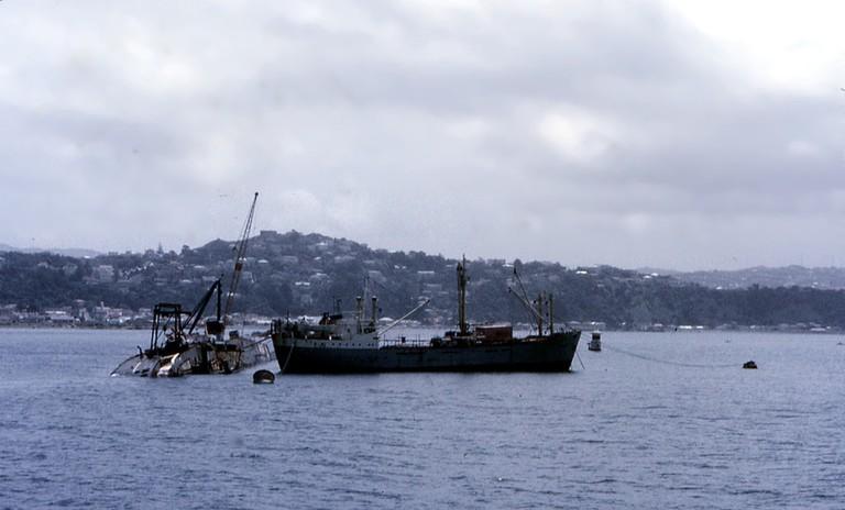 Wahine salvage operations, 24 Apr 1968, Wellington, New Zealand
