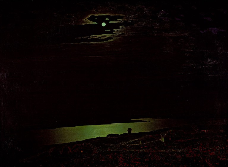 Arkhip Kuindzhi, 'Moonlight Night on Dniepr', 1880