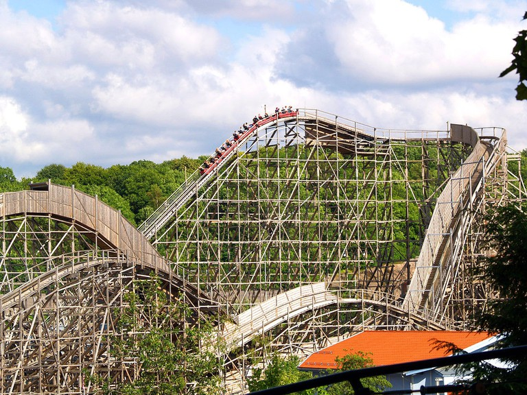 The famous wooden rollercoaster at Liseberg