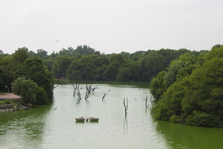 Hauz Khas Social offers a scenic view of the Hauz Khas Lake