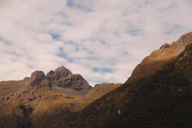 The landscapes at the beginning of the Milford Track