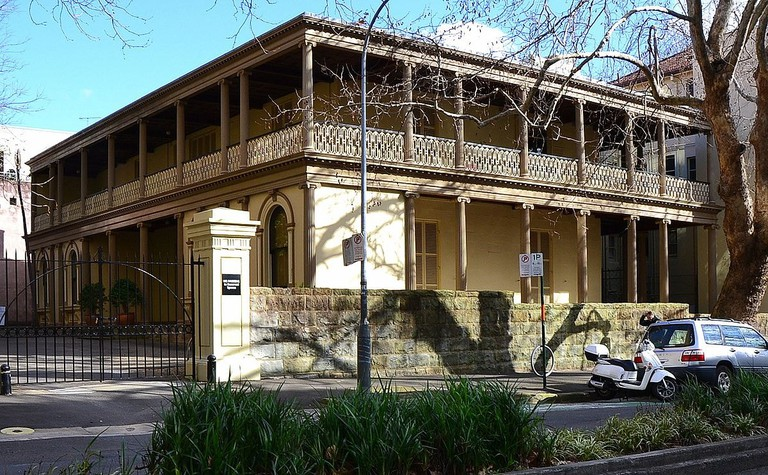 One of the traditional terraced houses in sophisticated Potts Point