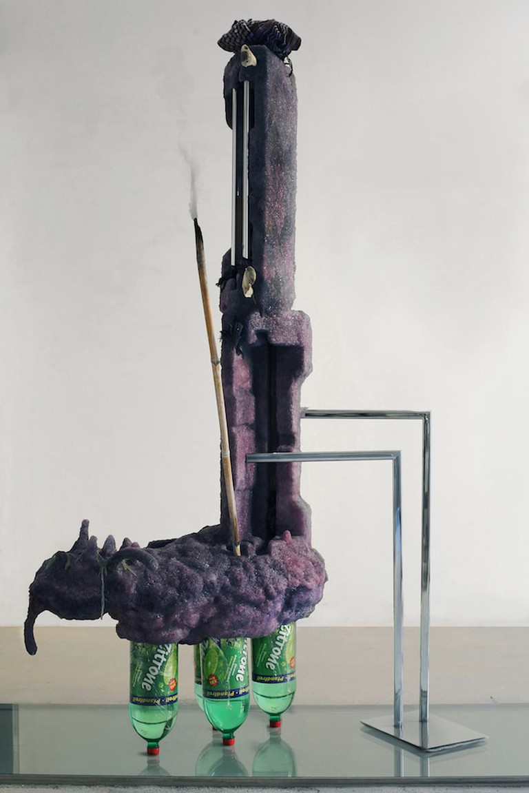 Michele Gabriele, 'Posey-Purply-L' (2016) from 'My Idea of Peter's Idea of my Work': solo exhibition at FutureDome, Milan, Italy   © Michele Gabriele