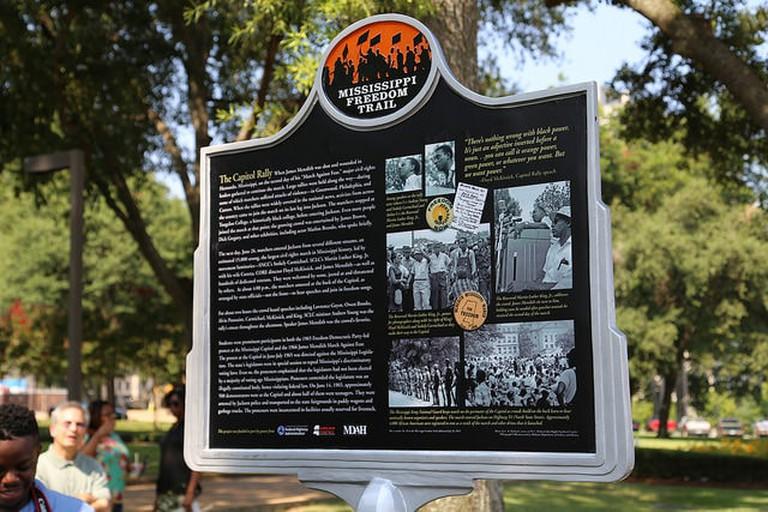 Mississippi Freedom Trail Marker in Jackson