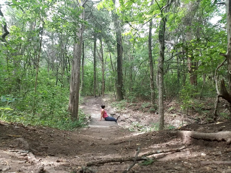 Oak Cliff Nature Preserve has eight miles of hiking and biking trails.