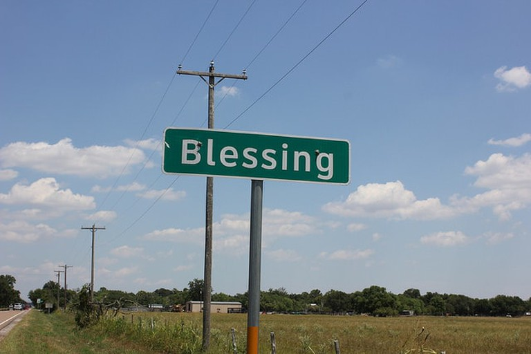 "Blessing, Texas, was almost named ""Thank God"""