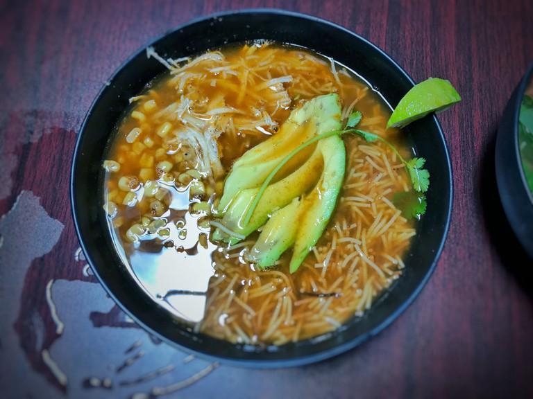 A version of the classic sopa de fideos