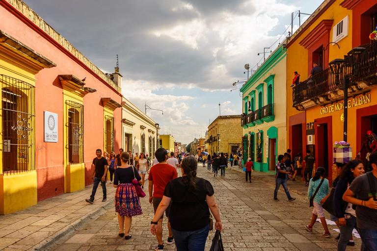 Oaxaca's main walkway