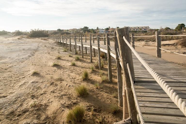 Pathway along the beach