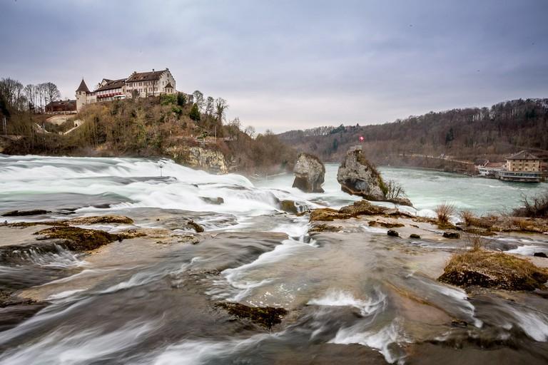 The magnificent Rheinfall in Switzerland
