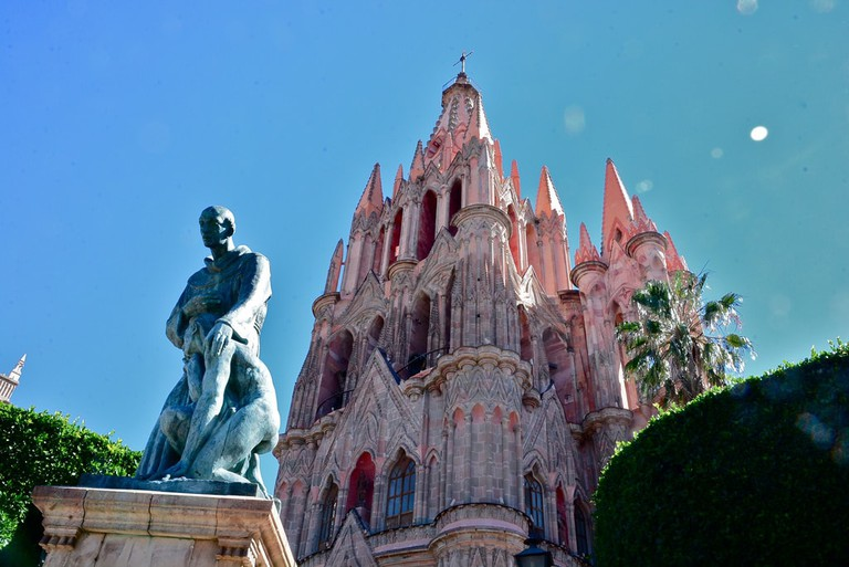 San Miguel de Allende's show-stopping pink cathedral
