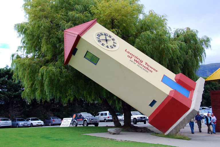 The Leaning Tower of Wanaka at Puzzle World