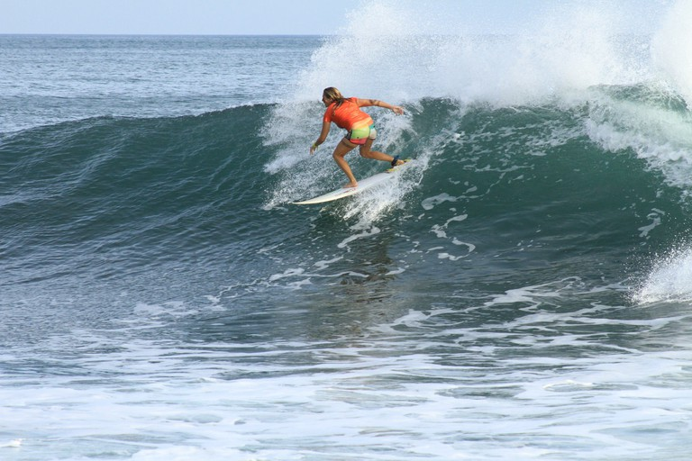 Surfer in El Salvador