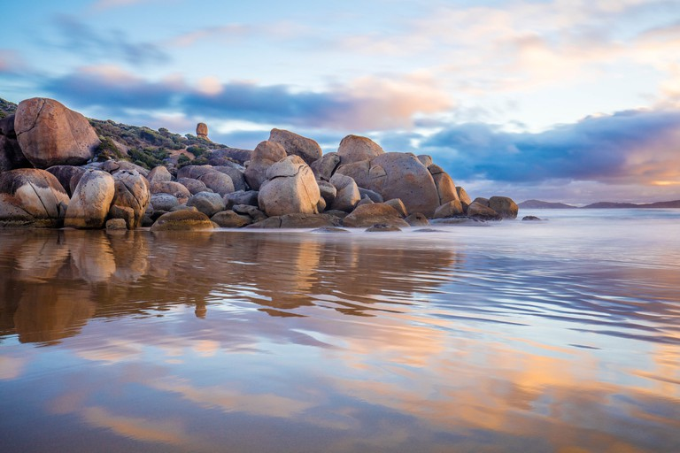 Whisky Bay reflections in Wilsons Promontory National Park