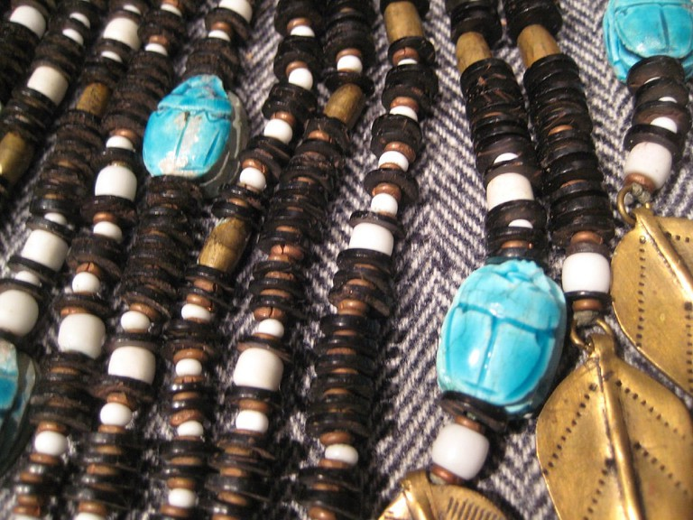 Egyptian scarab necklaces