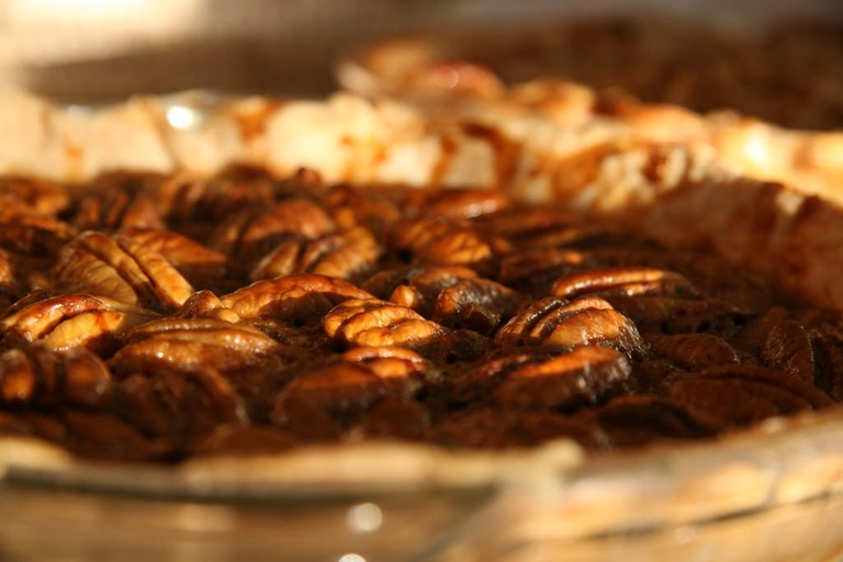 Pecan Pie is a favorite Cajun dessert especially during the Thanksgiving holidays.