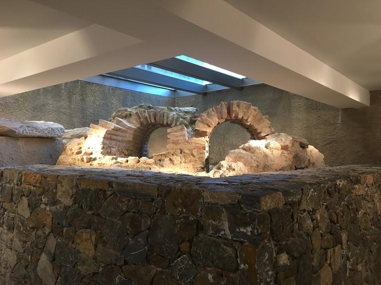 Underground ruins in Zara store in central Athens