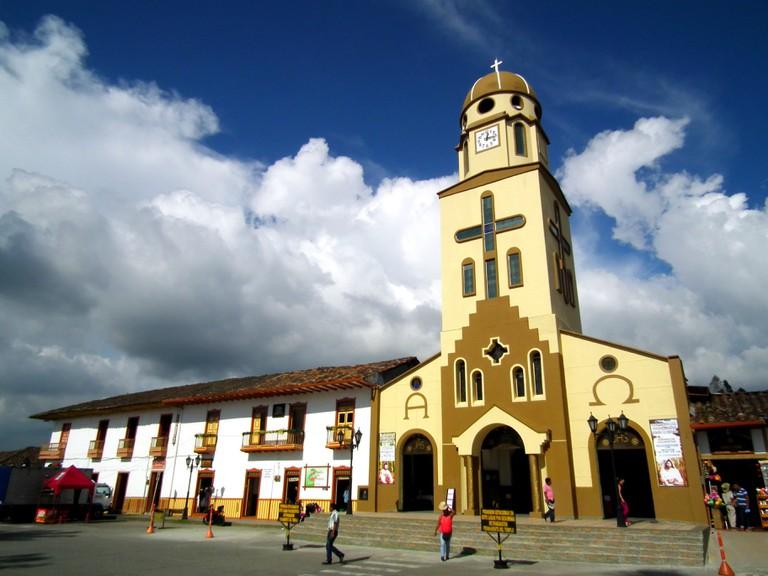 The main plaza of Salento