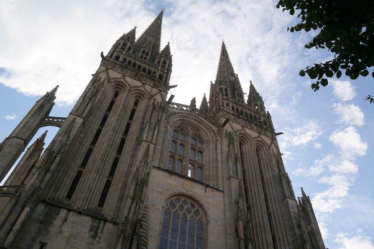 The gothic Quimper cathedral