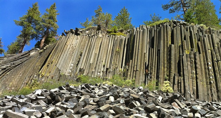 Devils Postpile in Mammoth Lakes, California.