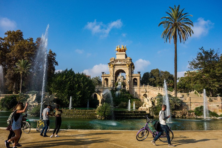 Bike tour in Park Ciutadella, Barcelona
