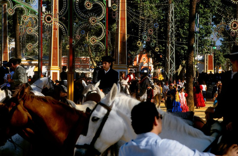 Horses at Jerez's lovely Feria del Caballo