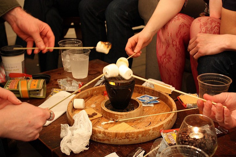 Ordering S'mores at Halcyon is a treat for all