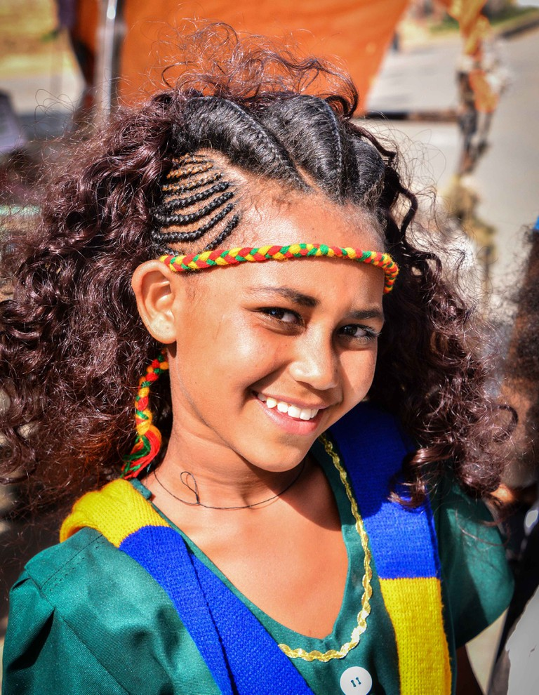 A girl from Tigray dressed for the Ashenda festival