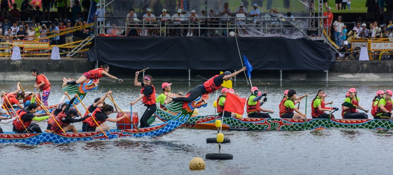 Dragon boat races are very competitive