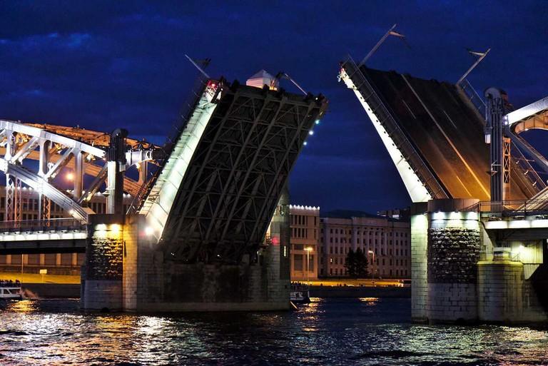 The Palace Bridge in St Petersburg