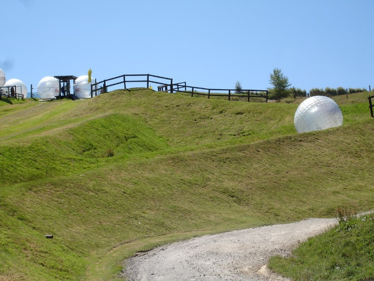 Zig-zag Zorb trail