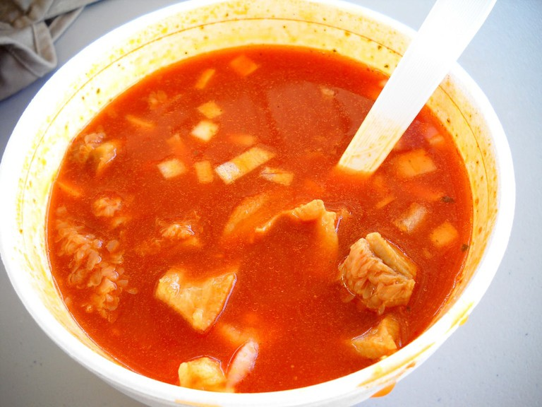 Menudo is often considered a hangover cure