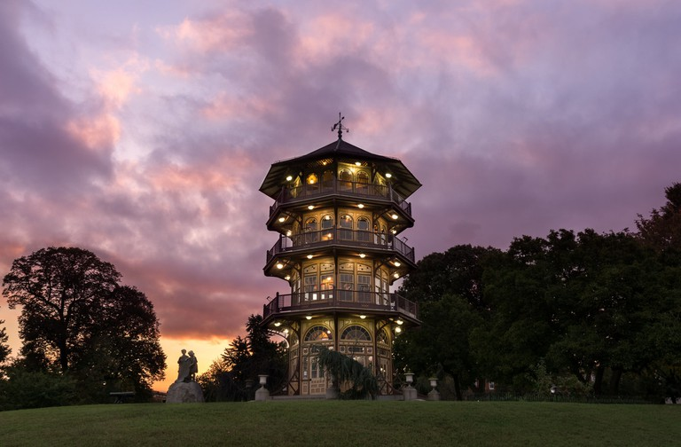 Patterson Park Pagoda, Baltimore, Maryland, Evening
