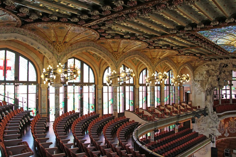 Inside the concert hall