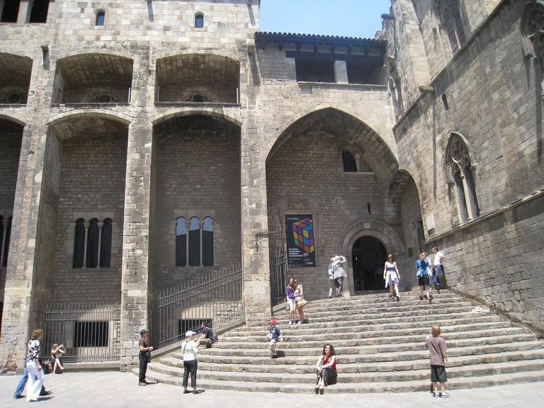 The Plaça del Rei Roman ruins in Barcelona