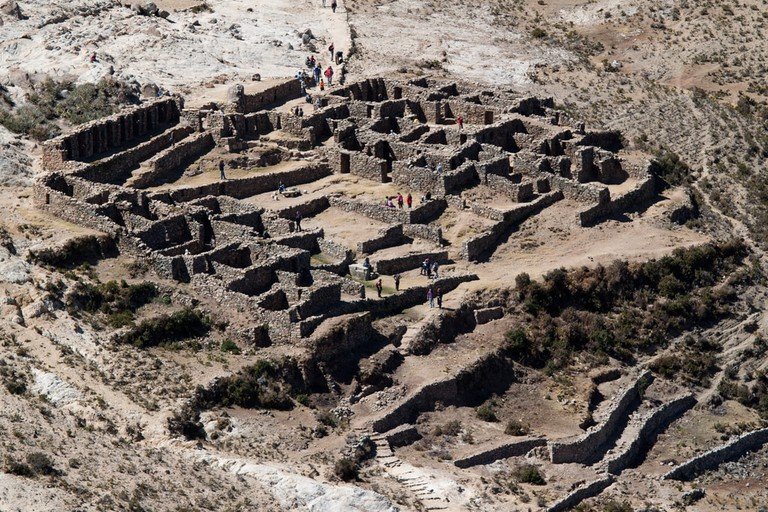 Inca ruins in the north of Isla del Sol