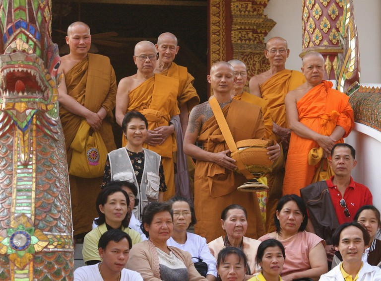 Monks and family