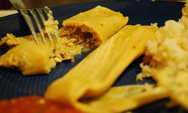 Tamales are a favorite dish during Christmas in Texas.