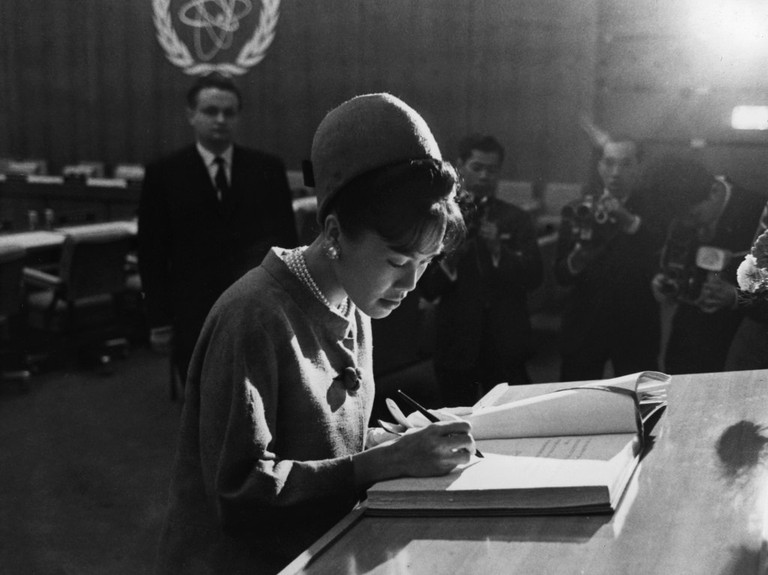 Queen Sirikit on an international visit