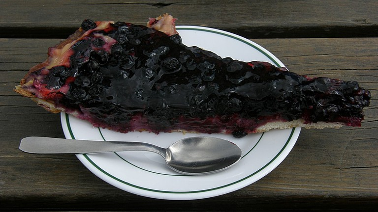 Blueberry tarte is a specialty of Auvergne