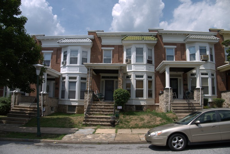 Rowhouses on Harlem Avenue in Baltimore
