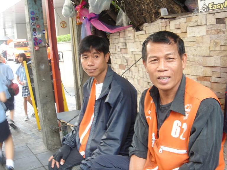 Motorbike taxi drivers