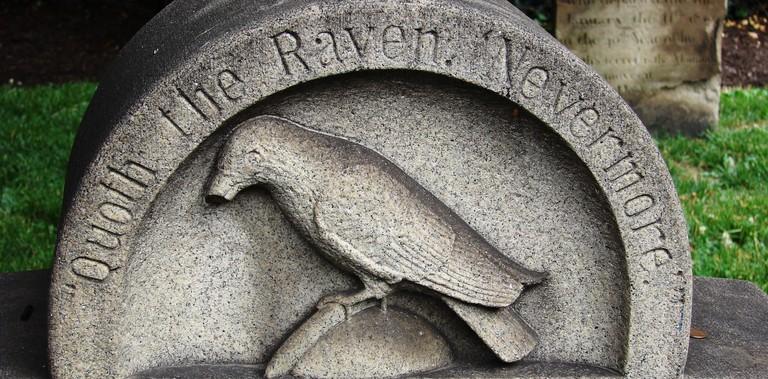 Edgar Allan Poe's Original Grave in Baltimore